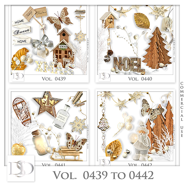 Vol. 0439 to 0442 Winter Christmas Mix by D's Design