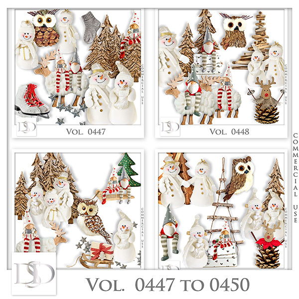 Vol. 0447 to 0450 Winter Christmas Mix by D's Design