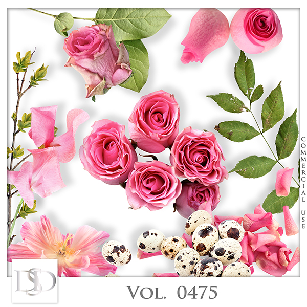 Vol. 0475 Roses Nature Mix by D's Design