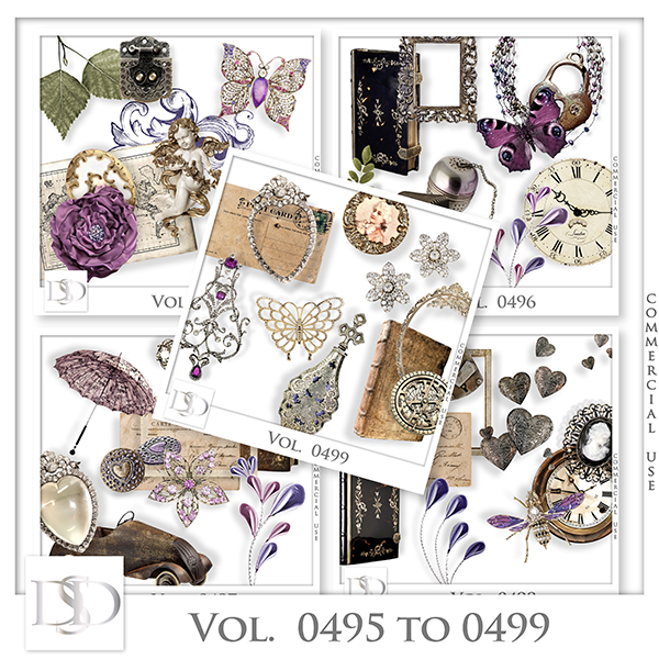 Vol. 0495 to 0499 Vintage Mix by D's Design