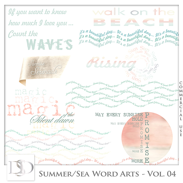 Summer/Sea Word Arts Vol 04 by D's Design
