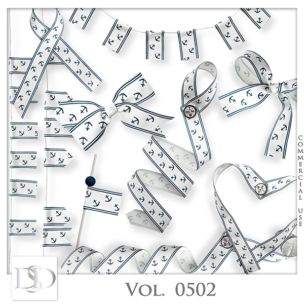 Vol. 0502 Marine Ribbons by D's Design