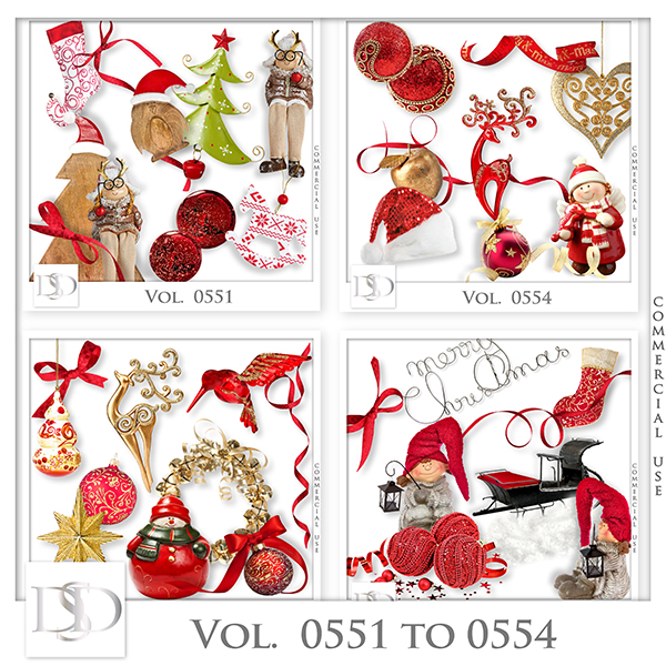 Vol. 0551 to 0554 Christmas Mix by D's Design