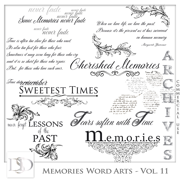 Memories Word Arts Vol 11 by D's Design