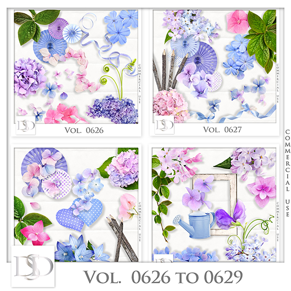 Vol. 0626 to 0629 Nature Floral Mix by D's Design