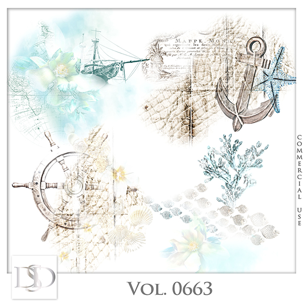 Vol. 0663 Sea/Summer Accents by D's Design