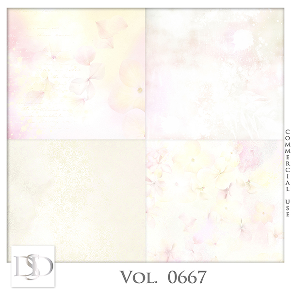 Vol. 0667 Floral Papers by D's Design