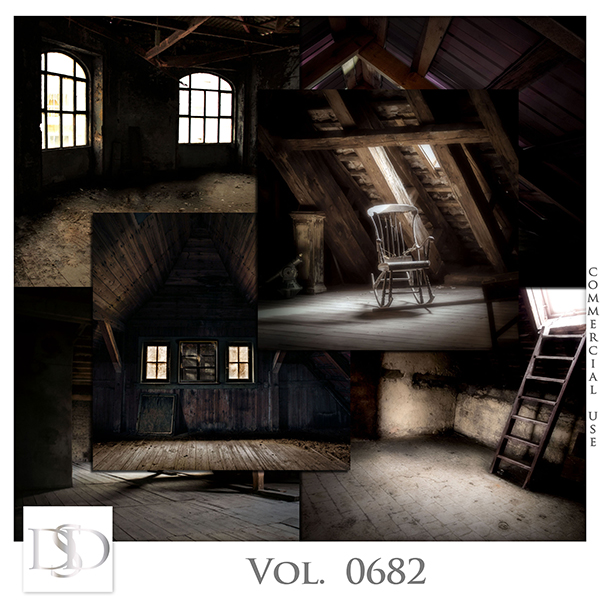 Vol. 0682 Attic Backgrounds Papers by D's Design