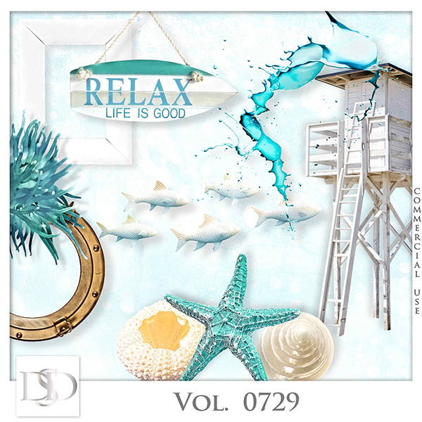 Vol. 0729 Summer Sea Mix by D's Design