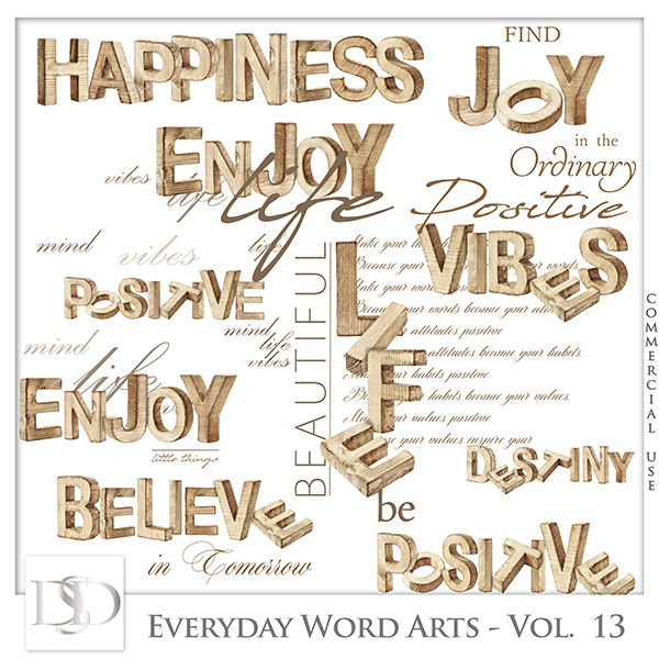 Everyday Word Arts Vol 13 by D's Design