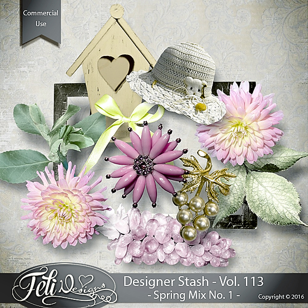 Designer Stash Vol 113 Spring Mix No 1 - by Feli Designs