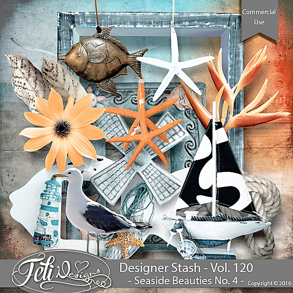 Designer Stash Vol 120 - Seaside Beauties No 4 by Feli Designs