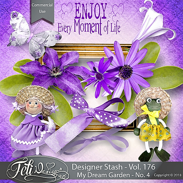 Designer Stash Vol 176 - My Dream Garden No. 4 - by Feli Designs