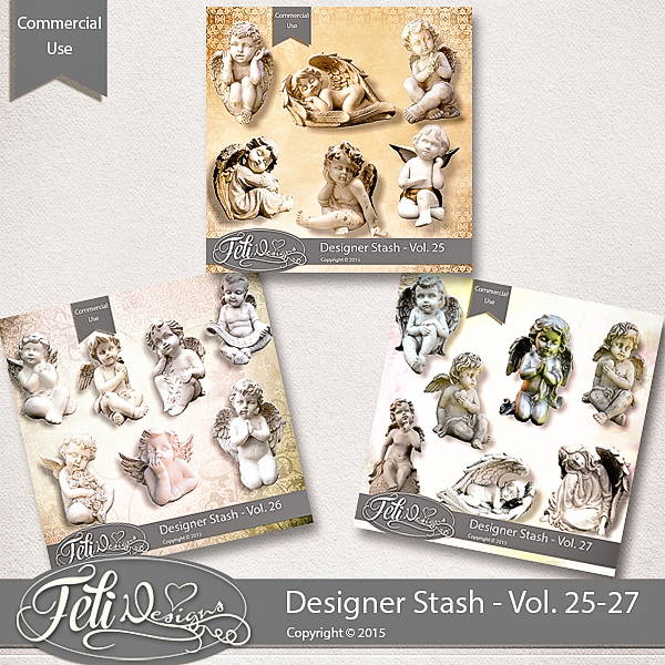Designer Stash Vol 25-27 - CU by Feli Designs
