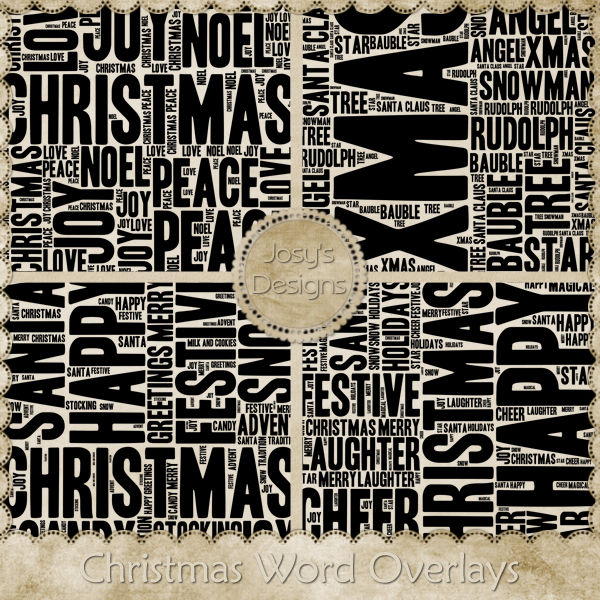 Christmas Word Overlays 1