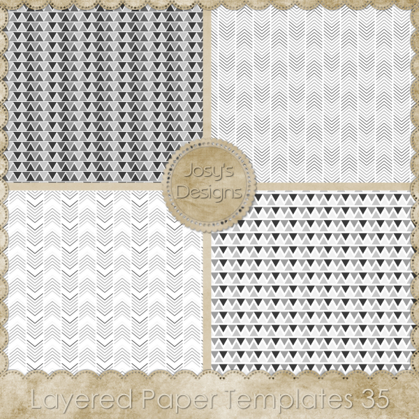 Layered Paper TEMPLATES 35 by Josy