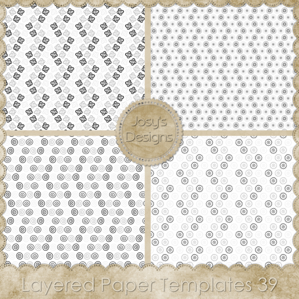 Layered Paper TEMPLATES 39 by Josy