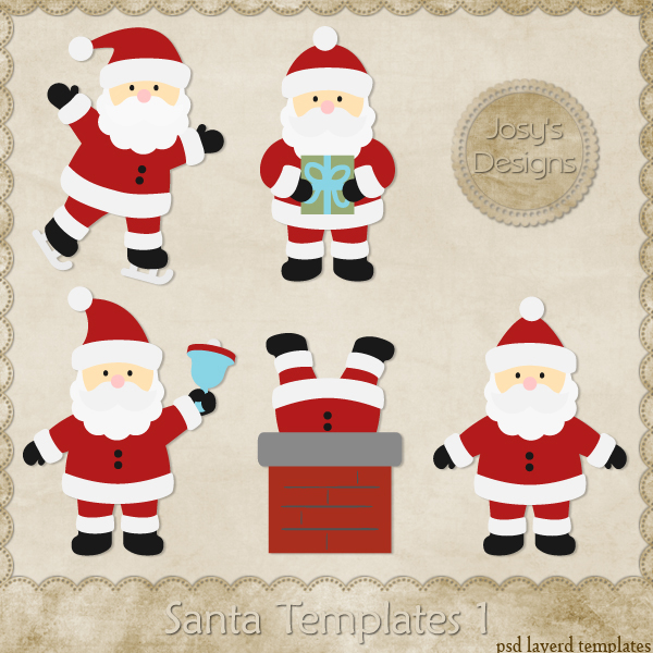 Santa Layered Templates by Josy