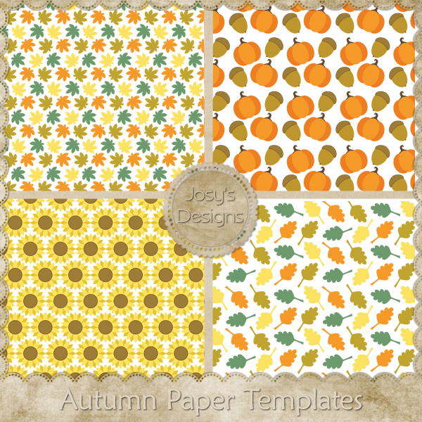 Autumn Paper Layered Templates 1 by Josy