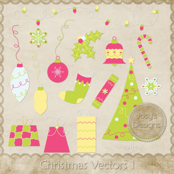 Christmas Layered Vector Templates 1 by Josy