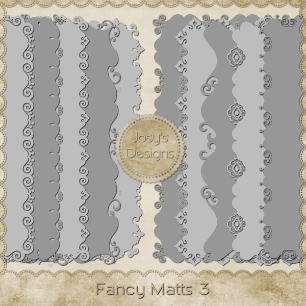 Fancy Matt PNG Templates 3 by Josy