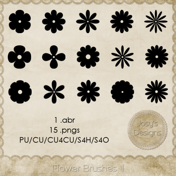 Flower Brushes 1 by Josy