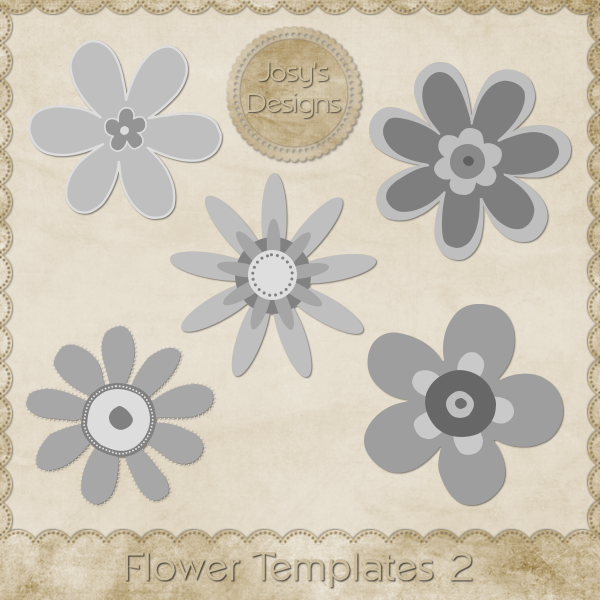 Flower Layered Templates 2 by Josy