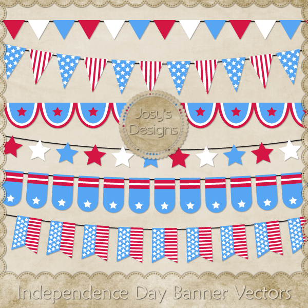 Independence Day Banner Layered Vector Templates by Josy