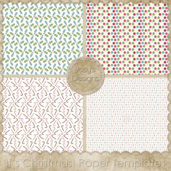 It's Christmas Paper Layered Templates by Josy