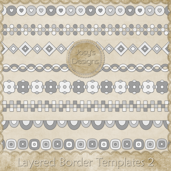 Layered Border Templates 2 by Josy