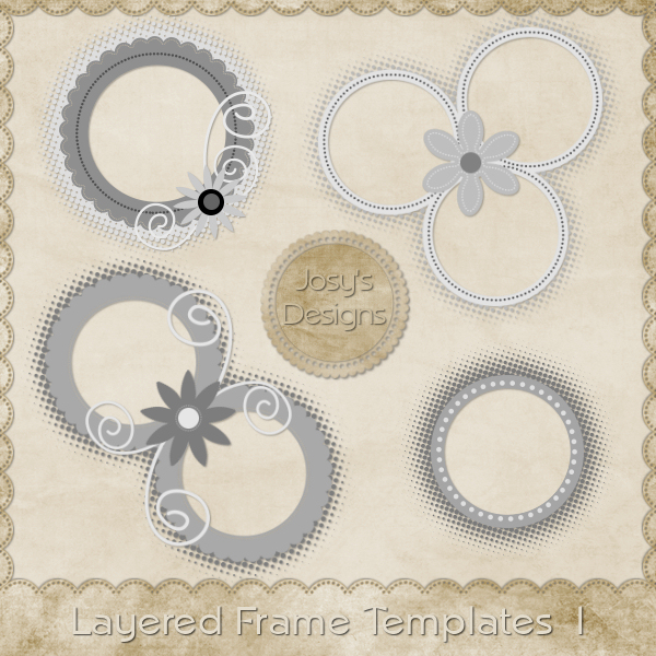 Layered Frame Templates 1 by Josy