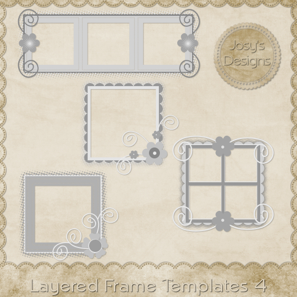 Layered Frame Templates 4 by Josy