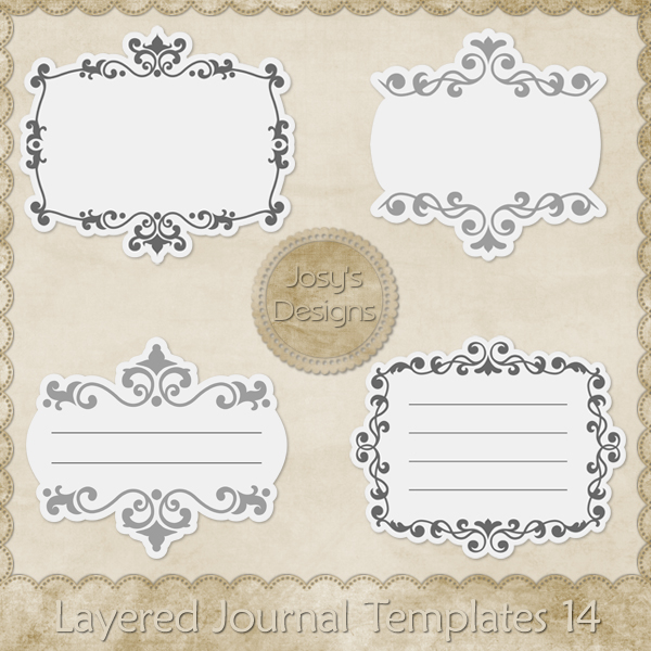 Layered Journal Templates 14 by Josy