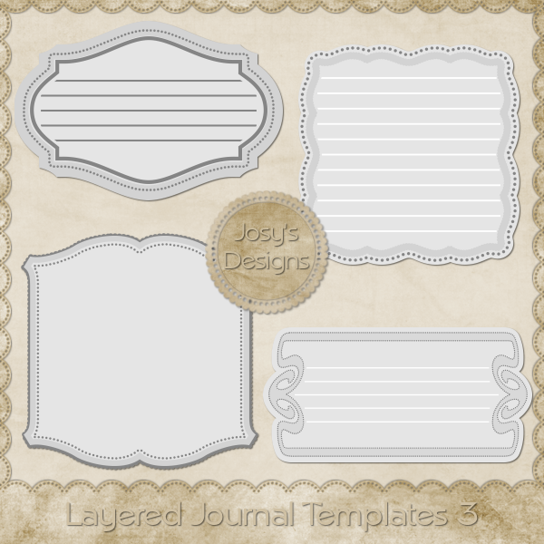 Layered Journal Templates 3 by Josy
