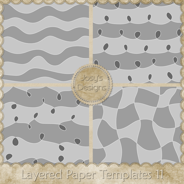 Layered Paper Templates 11 by Josy