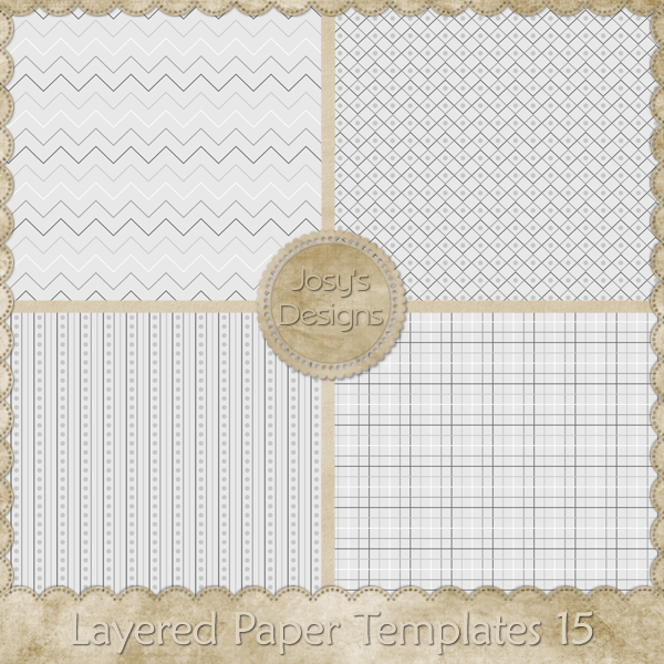 Layered Paper Templates 15 by Josy
