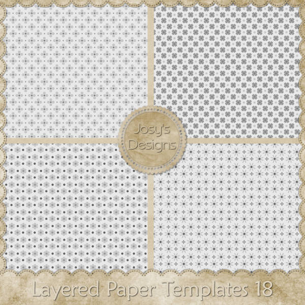 Layered Paper Templates 18 by Josy
