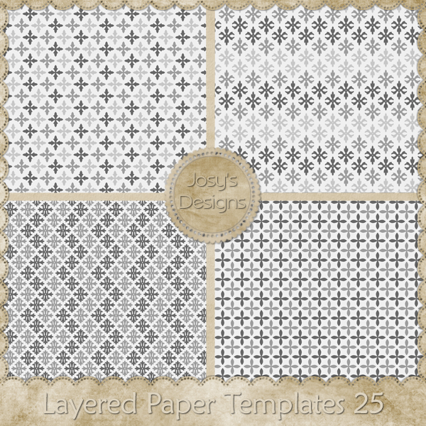 Layered Paper Templates 25 by Josy