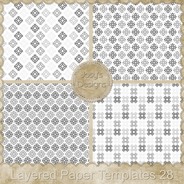 Layered Paper Templates 28 by Josy