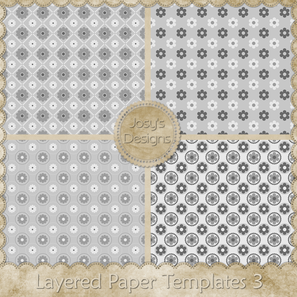 Layered Paper Templates 03 by Josy