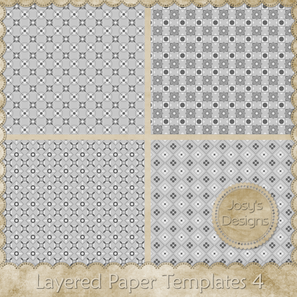 Layered Paper Templates 04 by Josy