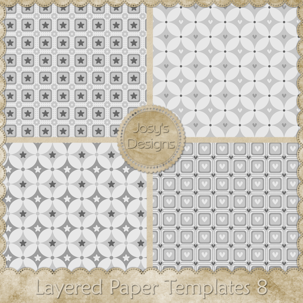 Layered Paper Templates 08 by Josy