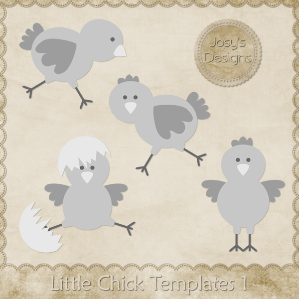 Little Chick Layered Templates by Josy