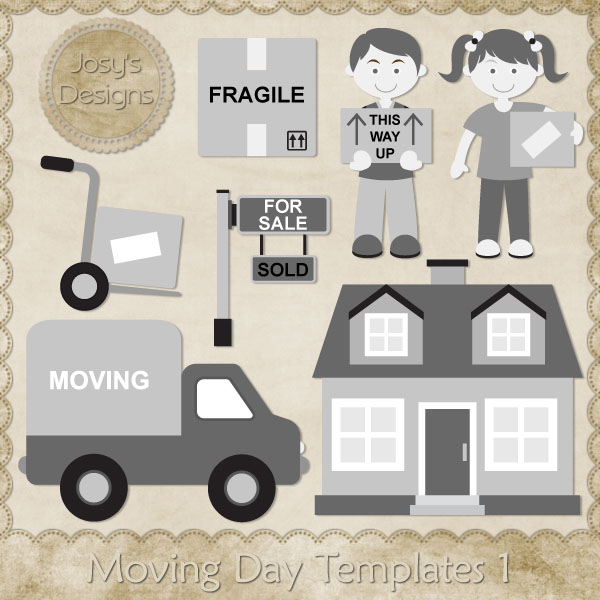 Moving Day Layered Templates by Josy