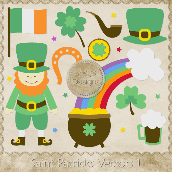 Saint Patricks Layered Vector Templates 1 by Josy