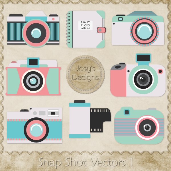 Snap Shot Layered Vector Templates 1 by Josy