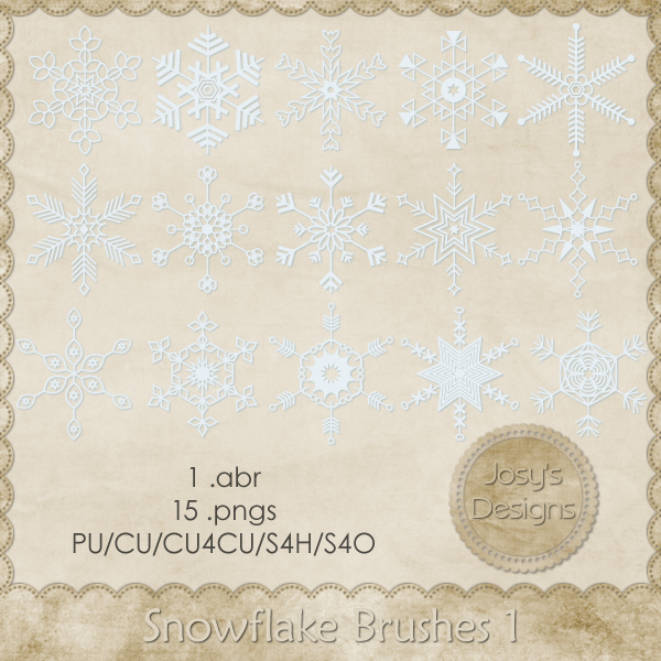 Snowflake Brushes 1 by Josy