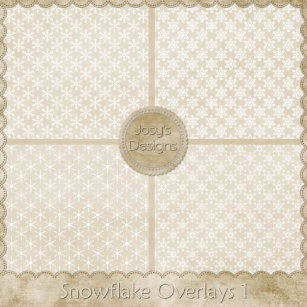 Snowflake Overlays 1 by Josy