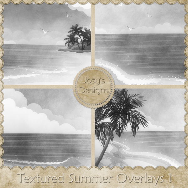 Textured Summer Overlays by Josy