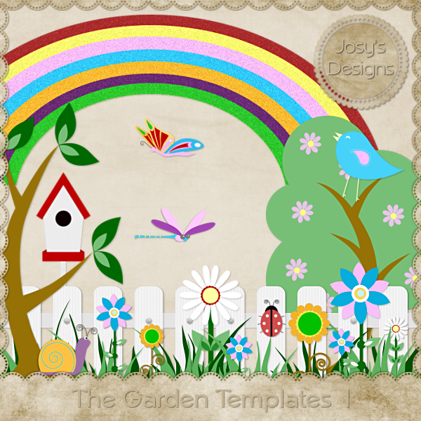 The Garden Layered Templates 1 by Josy